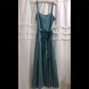 Anthropologie Maeve Turquoise Maxi Dress (FIRM)